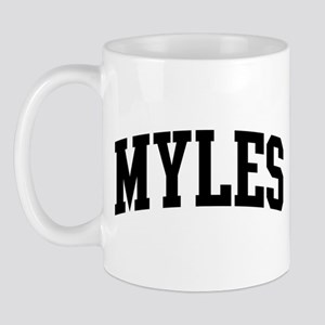 MYLES (curve-black) Mug