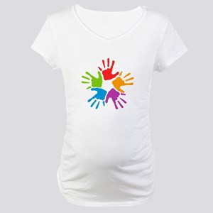 Colorful Hands Maternity T-Shirt