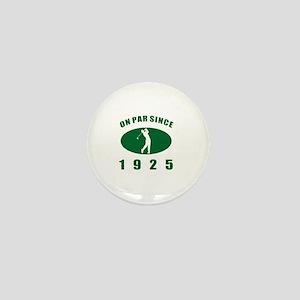 1925 Golfer's Birthday Mini Button