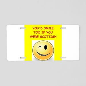 scottish Aluminum License Plate