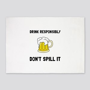 Drink Responsibly 5'x7'Area Rug