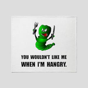 Hangry Monster Throw Blanket