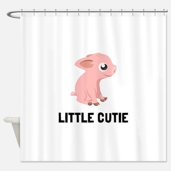 Little Cutie Pig Shower Curtain