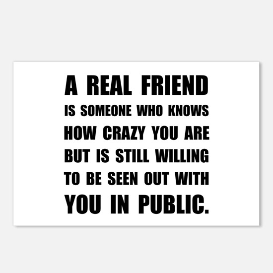 Real Friend Crazy Postcards (Package of 8)