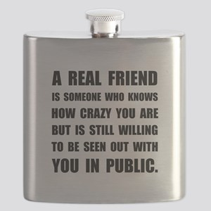Real Friend Crazy Flask