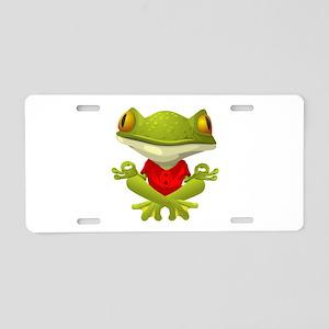 Yoga Frog Aluminum License Plate