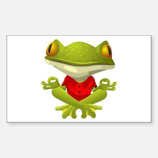 Yoga Frog Decal