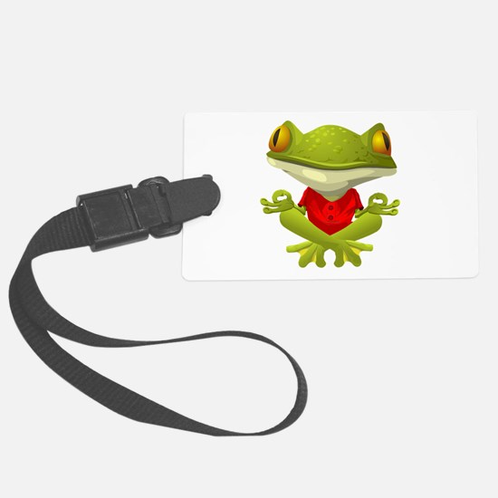 Yoga Frog Luggage Tag