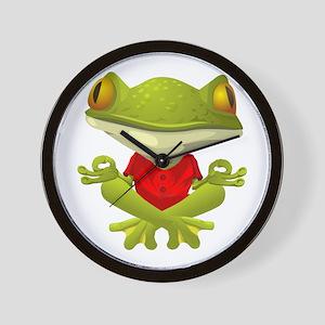 Yoga Frog Wall Clock