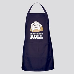 How I Roll (Cinnamon Roll) Apron (dark)