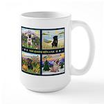 4 Seasons with a Pug Large Mug