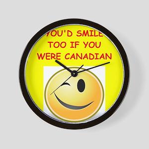 canadian Wall Clock
