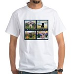 4 Seasons with a Pug White T-Shirt