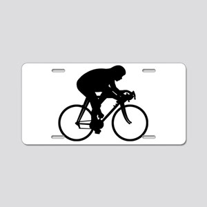 Bicycle Rider Aluminum License Plate