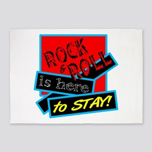 Rock And Roll Is here 5'x7'Area Rug