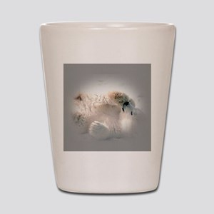 Baby polar bear Shot Glass