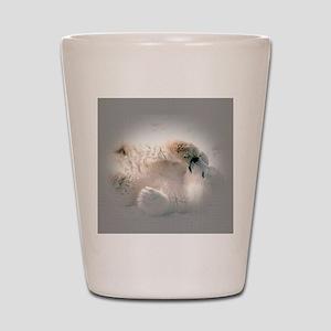 Baby polar bear Shot Glass