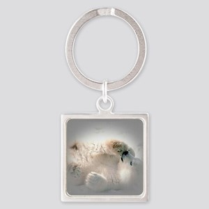 Baby polar bear Square Keychain