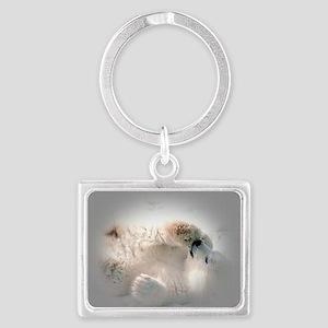 Baby polar bear Landscape Keychain