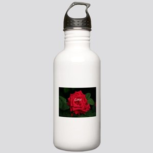 Love Romantic Red Rose Stainless Water Bottle 1.0L
