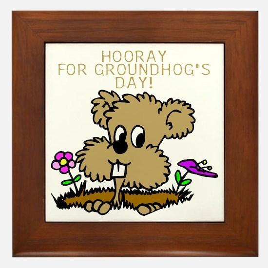 HOORAY FOR GOUNDHOG'S DAY! Framed Tile