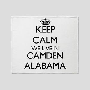 Keep calm we live in Camden Alabama Throw Blanket