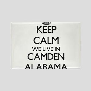Keep calm we live in Camden Alabama Magnets