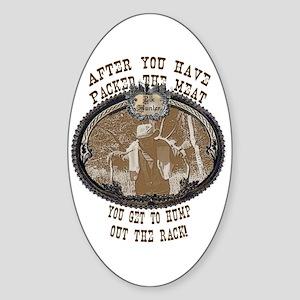 big rack Oval Sticker
