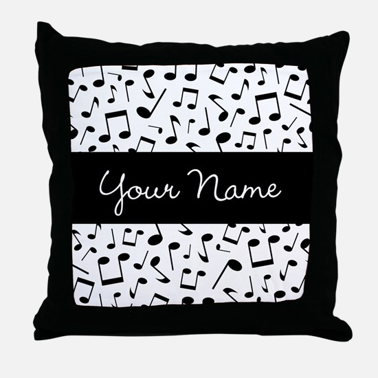 Personalized Music Notes Throw Pillow
