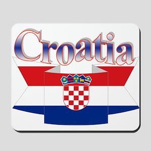 Cute Croatia ribbon Mousepad