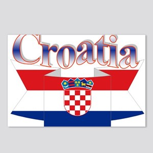 Cute Croatia ribbon Postcards (Package of 8)
