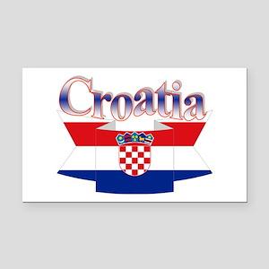Cute Croatia ribbon Rectangle Car Magnet