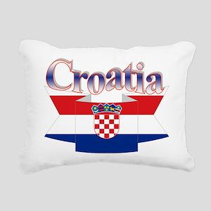 Cute Croatia ribbon Rectangular Canvas Pillow
