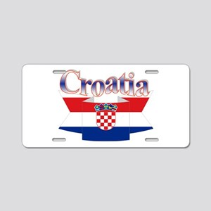 Cute Croatia ribbon Aluminum License Plate