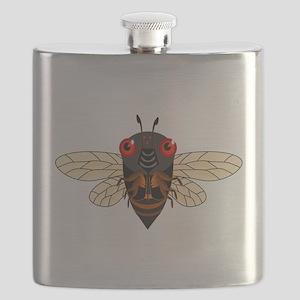 Cute Cartoon Cicada Flask