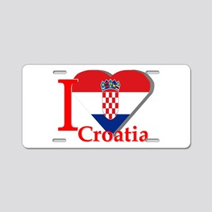 I love Croatia Aluminum License Plate