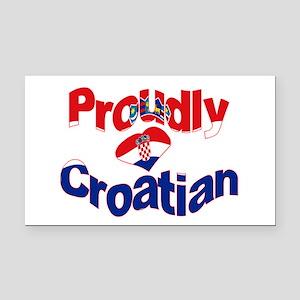 Proudly Croatian Rectangle Car Magnet