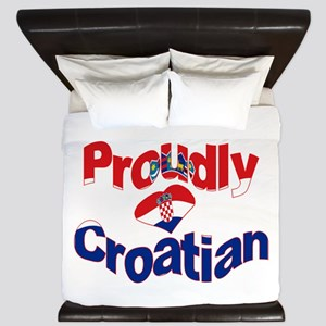 Proudly Croatian King Duvet