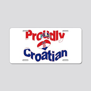 Proudly Croatian Aluminum License Plate