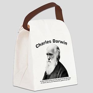 Darwin: Poor Canvas Lunch Bag