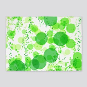 Bubbles Green 5'x7'Area Rug