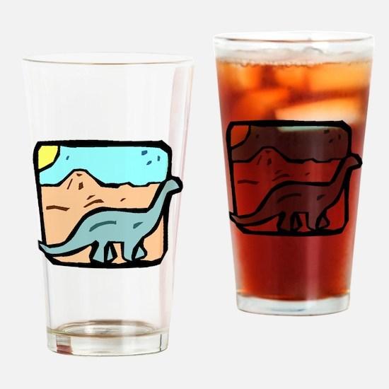 Brontosaurus Drinking Glass