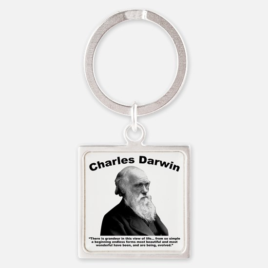 Darwin: Evolved Square Keychain