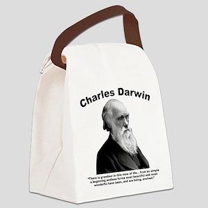 Darwin: Evolved Canvas Lunch Bag