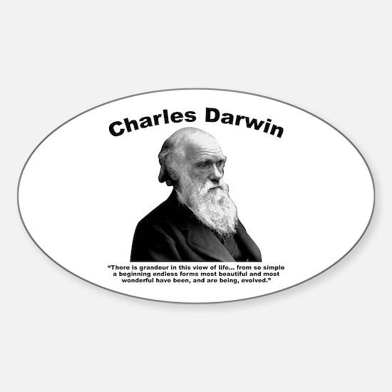 Darwin: Evolved Sticker (Oval)