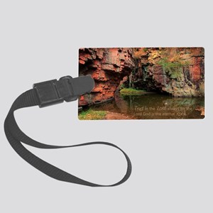 Lord is my Rock Large Luggage Tag