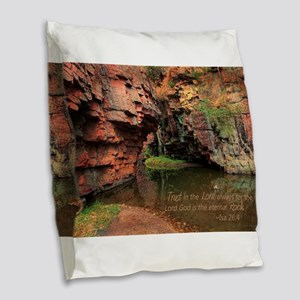 Lord is my Rock Burlap Throw Pillow