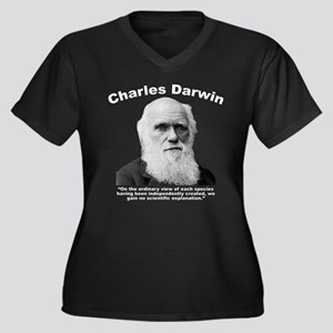 Darwin: Crea Women's Plus Size V-Neck Dark T-Shirt
