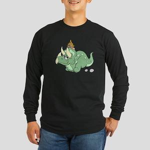Dinosaur And Girl Long Sleeve T-Shirt