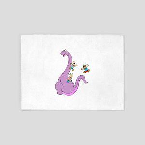 Dinosaur Slide 5'x7'Area Rug